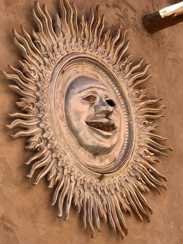 Sun Sculpture with Birds Nest inside!  Needles District of Canyonlands National Park