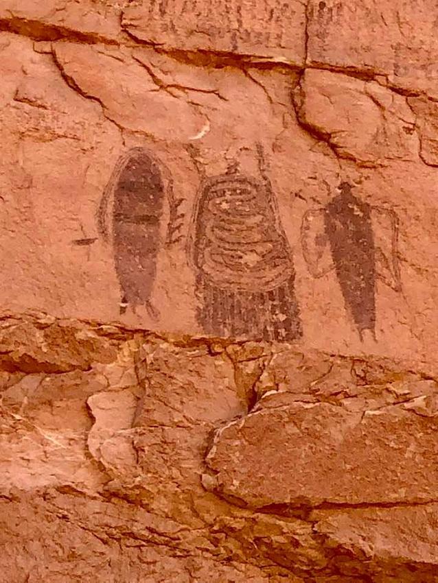Intestine Man petroglyph